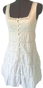 Nanette Lepore short dress White Size 4 on Tradesy