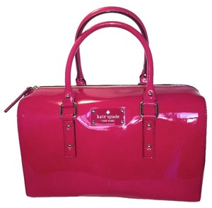 Kate Spade Patent Leather Satchel in Berry