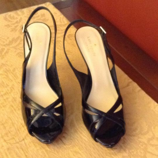 Kate Spade Patent Leather Black Sandals
