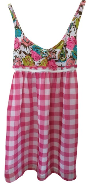 Preload https://item4.tradesy.com/images/betsey-johnson-pink-white-turquoise-peach-multi-color-short-casual-dress-size-4-s-4623523-0-0.jpg?width=400&height=650