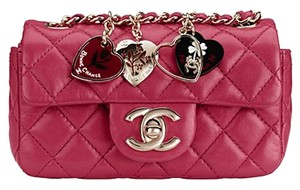 Chanel Valentine Mini Heart Charm Flap Cross Body Bag