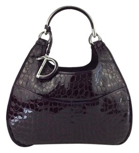 Christian Dior Christian Limited Edition 61 Satchel in Purple