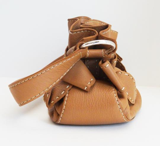 Brighton Mindy Bow Ruffle Leather E181815 Shoulder Bag