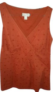 Ann Taylor LOFT Top Rusty Orange