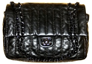Chanel Vertical Stitch Quilting Cross Body Bag