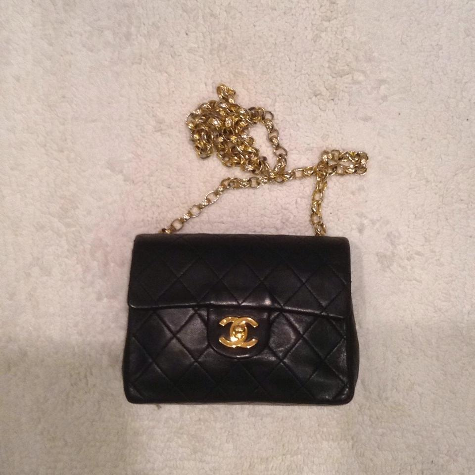 90a92fdc714f07 Chanel Classic Flap 2.55 Reissue Mini Square Quilted Woc Bijoux Chain Link Black  Lambskin Leather Cross Body Bag - Tradesy