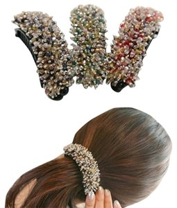 Red Crystal Handmade Barrette