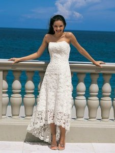 Alfred Angelo White Lace Style # 1774nt Formal Wedding Dress Size Other