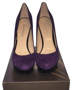 Enzo Angiolini Dark Purple With Black Platform And Heel. Platforms