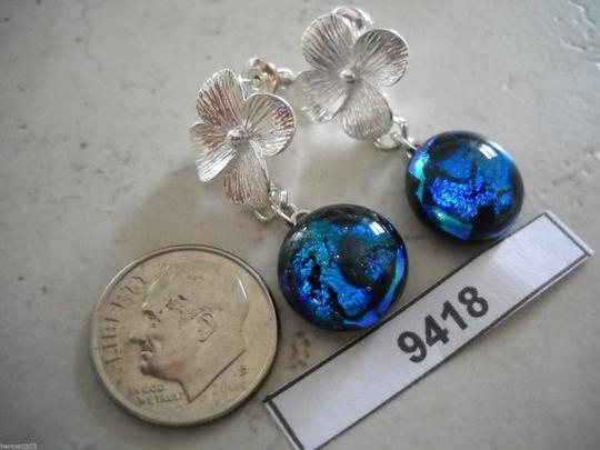 Other Blue Dichoric Handmade Pendant and Earring Set