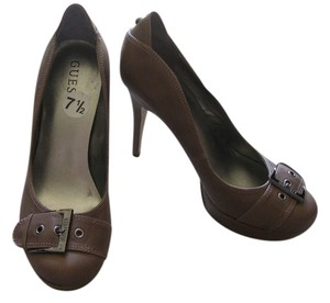 Guess Platform Faux Leather Taupe Pumps