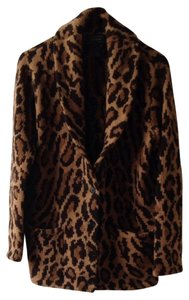 Ralph Lauren Leopard Box Cut Classic Brown And Tan Leopard. Jacket