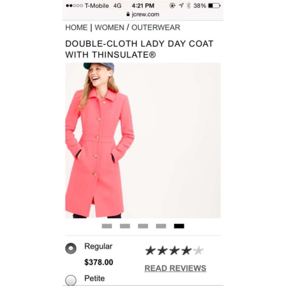 bc7b5ae83 J.Crew Purple Double Cloth Lady Day Coat Size 6 (S) 54% off retail