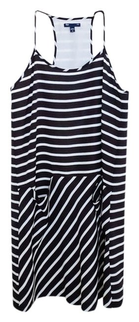 Gap short dress Black Striped Sundress Polyester Short on Tradesy