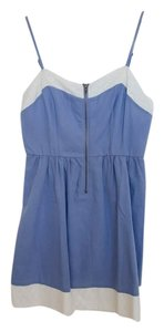 Petticoat Alley short dress Blue Lace Trim Strappy on Tradesy