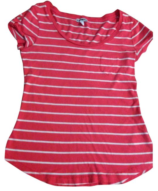 Express T Shirt Pink and white