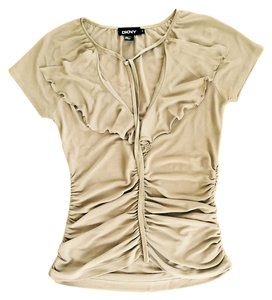 DKNY Silk Top Beige