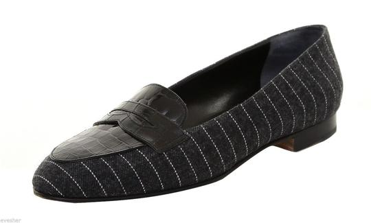 Suarez Charcoal Grey, Black Flats