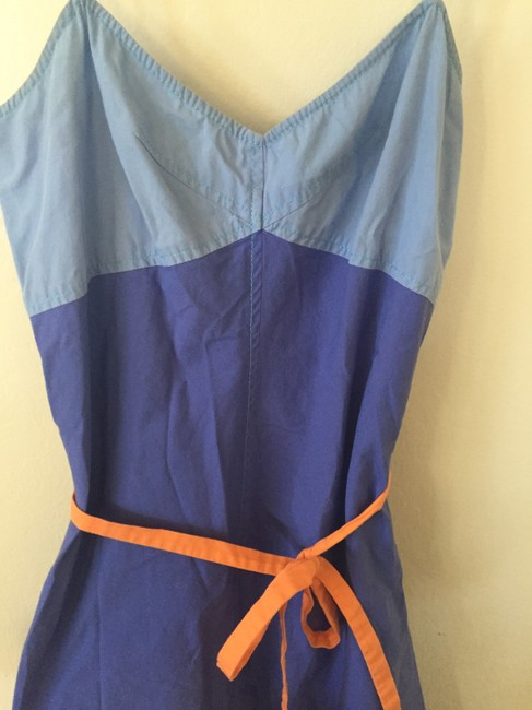 French Connection short dress Blue, Orange, Green Color-block Flattering Summer on Tradesy