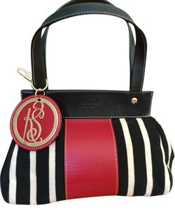 Kate Spade Satchel in Black, cream , red