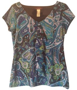 Villager Top Blue/Green multi