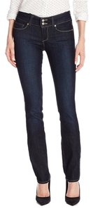 Paige Denim High-rise Flattering New Straight Leg Jeans-Dark Rinse
