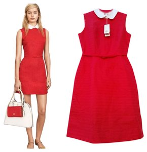 Tory Burch short dress Red Pink/White A-line Belted Sleeveless on Tradesy