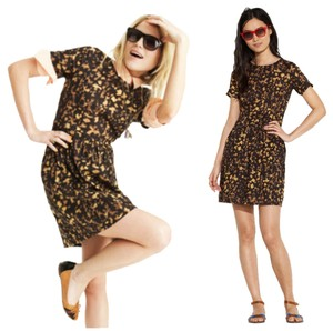 Madewell short dress Brown Songbird Animal Print on Tradesy