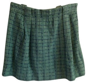 J.Crew Mini Skirt Teal & Navy