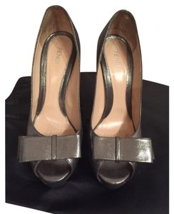 Fendi Pewter/silver metallic Platforms
