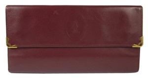 Cartier Cartier Logo Chestnut Brown Leather, Folding Wallet