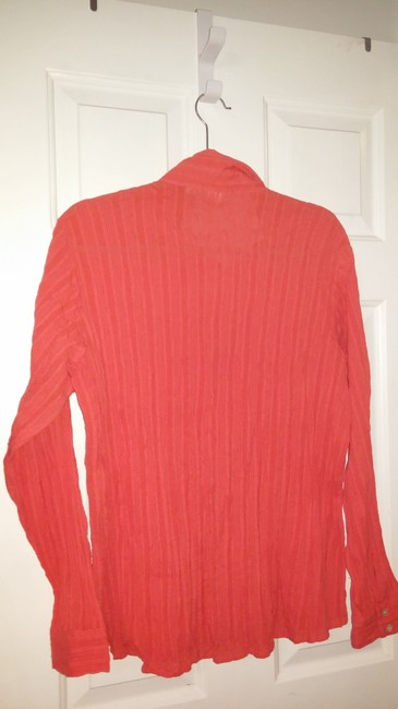 Chico's Button Down Shirt Coral