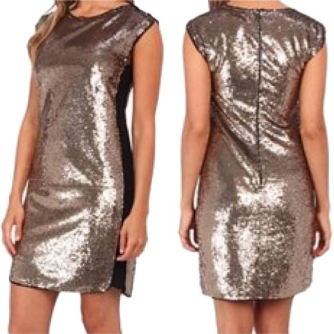 Rebecca Taylor Party Sparkle Gold Designer New Year Dress