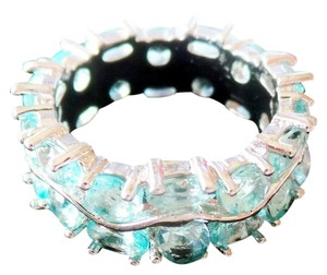Beautiful Sky Blue Topaz 925 Sterling Silver Anniversary Band 7