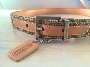 Coach Coach Signature Logo Belt