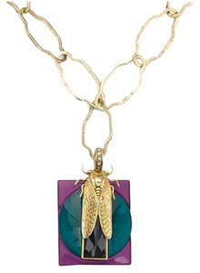 Tory Burch Tory Burch Greer Gold Scarab Pendant Necklace