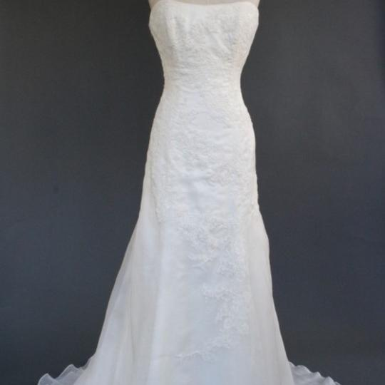 Marisa Bridal Ivory Lace and Chiffon and Satin Style 737 Wedding Dress Size 4 (S)