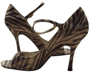Guess By Marciano Metallic Brown Gold Sandals