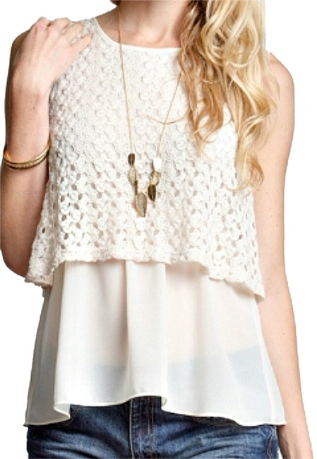 Preload https://img-static.tradesy.com/item/4632379/ya-los-angeles-cream-yl18979-sleeveless-woven-layered-lace-blouse-size-12-l-0-0-650-650.jpg