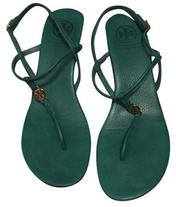 Tory Burch Viridian Green Wedges