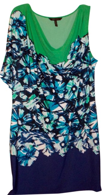 Preload https://item1.tradesy.com/images/bcbgmaxazria-green-with-blue-floral-design-above-knee-cocktail-dress-size-12-l-4632400-0-0.jpg?width=400&height=650