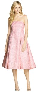 Adrianna Papell Floral Jacquard Tea Length Dress