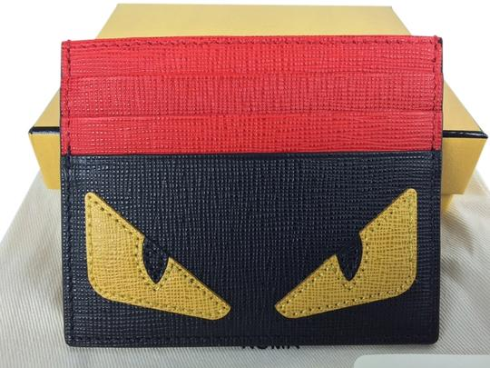 Preload https://item2.tradesy.com/images/fendi-red-and-black-saffiano-card-yellow-monster-buggies-eyes-wallet-4632901-0-0.jpg?width=440&height=440