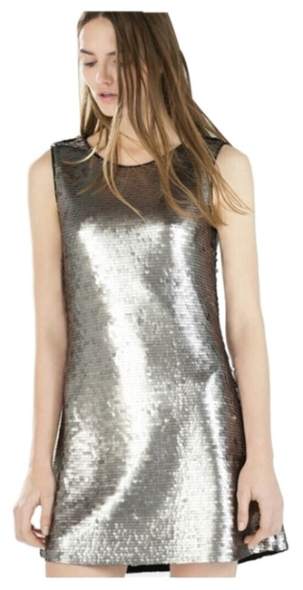 Preload https://item3.tradesy.com/images/zara-silver-above-knee-night-out-dress-size-8-m-4632952-0-0.jpg?width=400&height=650