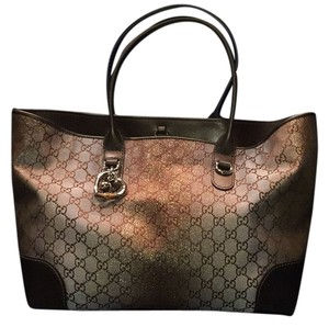 Gucci Tote in Brown/Gold