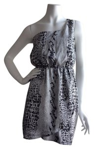 2b bebe Snake Print One Shoulder Dress