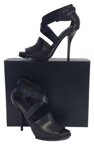 Alexander Wang Delphine Leather Peep Toe Sandals