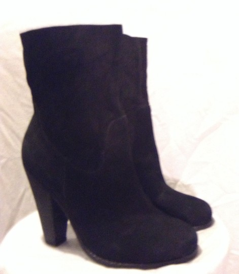 JOE'S Suede Western Ankle Black Boots