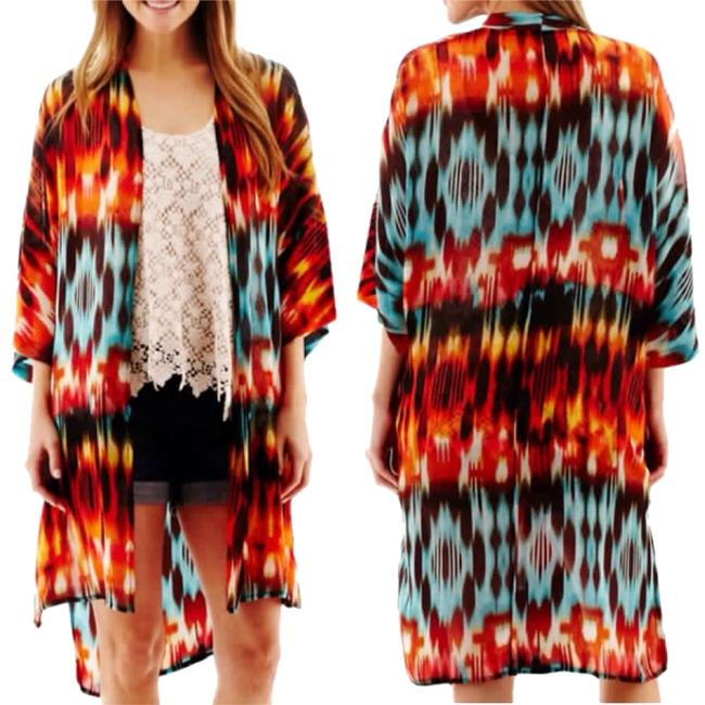 Preload https://item3.tradesy.com/images/ana-a-new-approach-orange-and-blue-multicolor-tribal-print-kimono-tunic-size-10-m-4636627-0-0.jpg?width=400&height=650