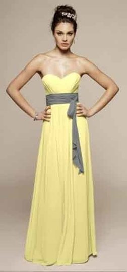 Yellow Chiffon Liz Fields Style No. 368 Formal Bridesmaid/Mob Dress Size 8 (M)
